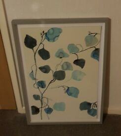 Blue abstract Art print Susan Hable Floral 10 Framed Print NEW EX John Lewis