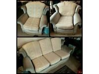 3 seater sofa + 2 armchairs