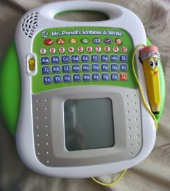 Newer Version of Mr Pencil Leapfrog scribble and write pad alphabets numbers Children/Kids toy