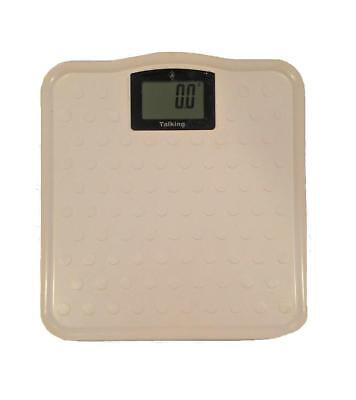 ILA Talking Digital LCD Bathroom Body Weight Weighing Scale, Lbs or Kg, White