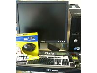 "DELL OPTIPLEX INTERNET READY PC ( WINDOWS 10) + 19"" MONITOR + KEYBOARD+MOUSE"