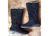 Brand new pair of black suede UGG boots size 4.5