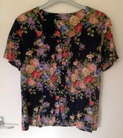 Floral Top for Chelsea or Flower Shows Size 12