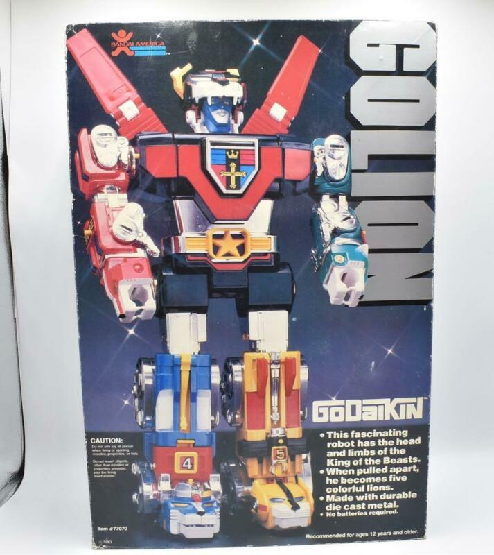 Golion EARLY POINTED TEETH NICE w Box Godaikin 1982 Bandai Popy Chogokin