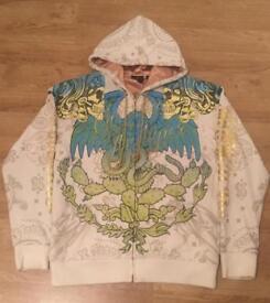 "Brand new authentic Christian Audigier men's luxury ""Blue Eagle"" designer hoodie. Large"