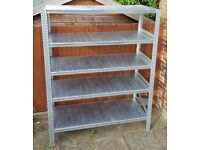 Galvanised 5 Level Shelving & Racking System - Used very good condition