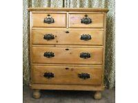 Victorian Pine set of drawers