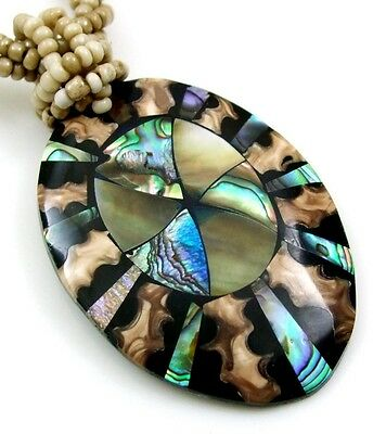 Natural Abalone Shell Mother of Pearl Pendant Beads necklace Women Jewelry BA267 for sale  Shipping to Canada