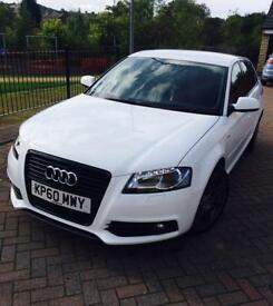 AUDI A3 2.0 BLACK EDITION DSG 12 MONTHS MOT LOW MILEAGE GREAT CAR WELL MAINTAINED £7095 OVNO