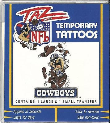Taz in the NFL Temporary Tattoos, Dallas - Cowboy Temporary Tattoos