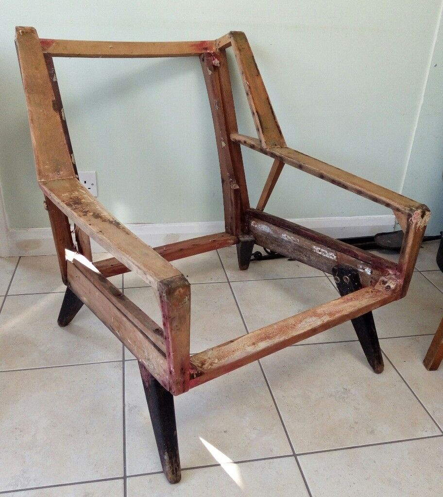 Mid Century Wooden Chair Frame