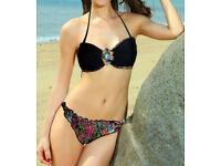 Distinctive Ethnic Print Sexy Bandeau Bikini Beach Wear size 10 -12 NEW