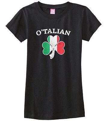 Irish Italian Girl (O'Talian Italian Irish Shamrock Girls Fitted T-Shirt Italy)