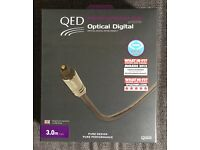 QED Performance Graphite Optical digital cable 3m