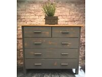 Painted Chest of Drawers.