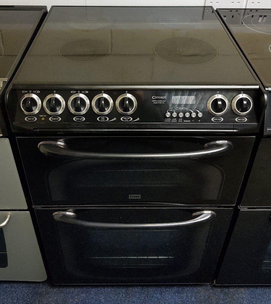 Creda Black 60cm Ceramic Cooker - 12 Months Warranty - £190