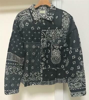 KAPITAL BANDANA PATCHWORK JACKET black size 4 XL brand new made in Japan