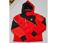 Spyder Ski Jacket - Boys age 8. Red/Black