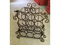 12 Bottle Wine Rack. made from cast iron, Black.