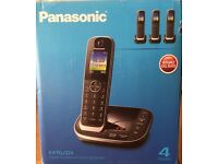 Panasonic KX-TGJ324 Cordless Telephone and answer machine with 4 handsets and call block