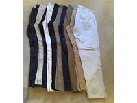 Mens Cotton Trousers - 11 Pairs in total