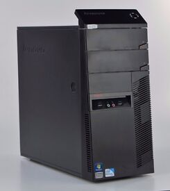 WINDOWS 7 LENOVO A58 PC TOWER - INTEL DUAL CORE - COMPUTER - 4GB RAM - 320GB HDD