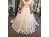 Ronald Joyce Size 14 wedding dress Omette style