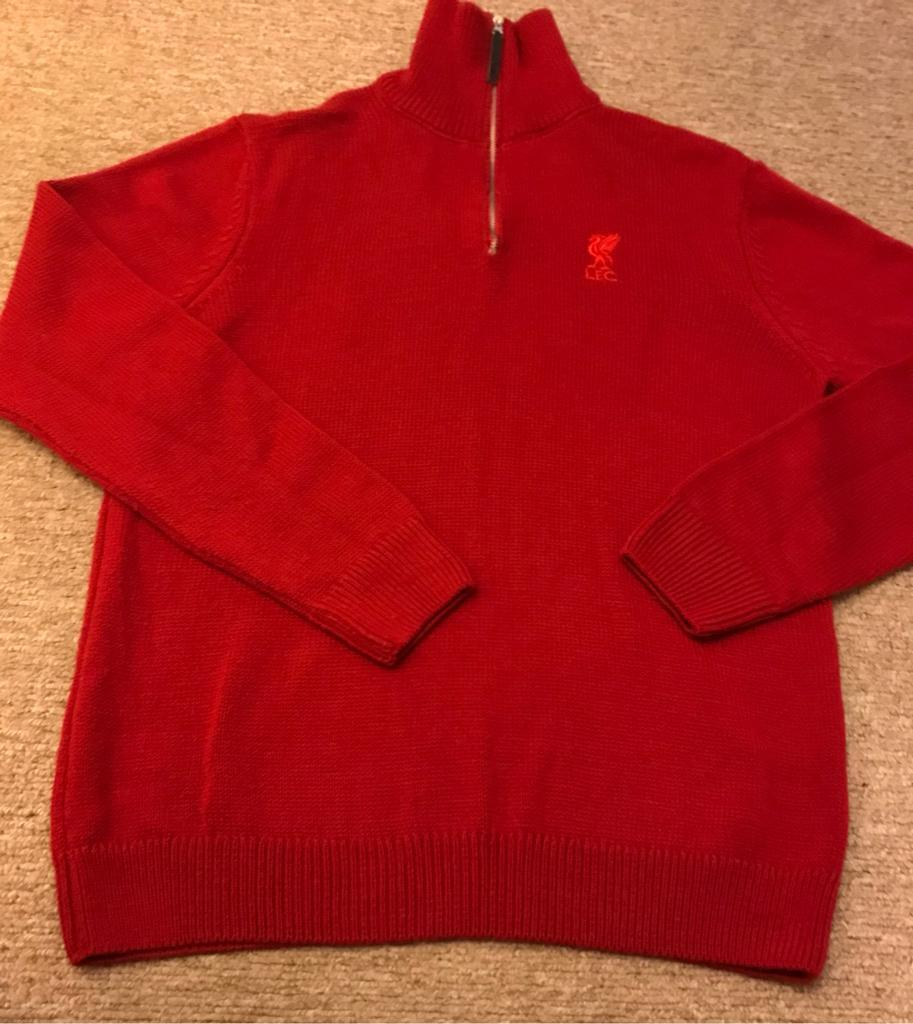 Two Men's Liverpool F.C. sweaters