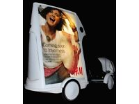 Quadricycle poster bike. Start your own advertising and promotions Business!