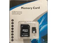 Brand New! 64GB Micro SD SDXC Memory Card Class 10 with Bonus SD Adapter