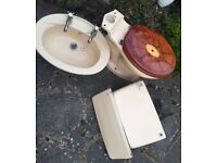 Second hand toilet, cistern and basin excellent condition