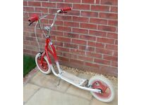 Red & White Vintage Style Childrens Scooter with Tyres...
