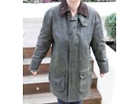 "Ladies 34"" Barbour Border Jacket in Green"
