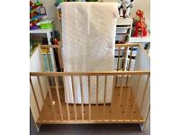 Ikea compact space saving cot crib