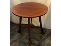 Vintage Art Deco Round Rosewood Side/Occasional Table 26in VGC