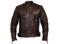 David Beckham Vintage Brown Stannard Leather Jackets - Charlie LONDON