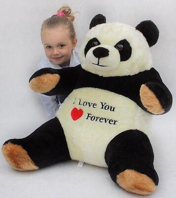 Riesen Pandabär Teddy Plüschbär Stofftier mit Stickerei 55cm groß