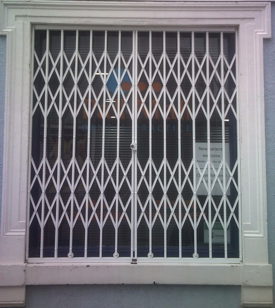 Window door security grilles steel bars roller shutters