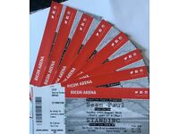 SEAN PAUL @ RICOH ARENA - 8 TICKETS FOR SALE