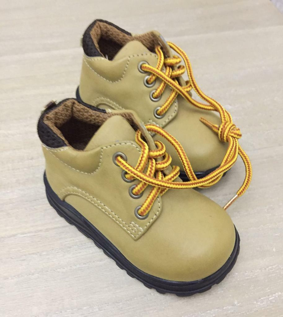 Baby Boy Tan Winter Boots - Size 3 - New