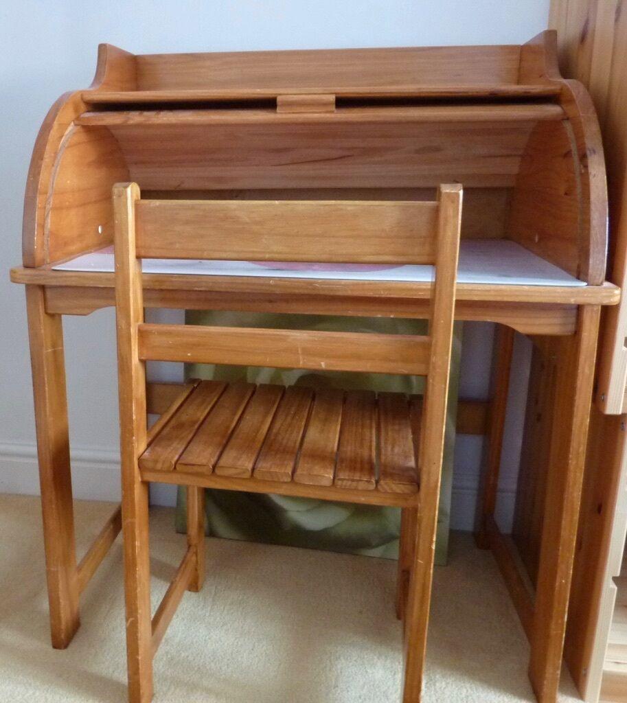 wooden childu0027s desk and chair roller shutter - Childs Desk