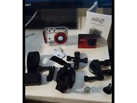 1080p Sports action camera with accessories