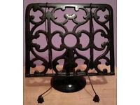 Heavyweight Ornate Black Cast Iron Cook Book Stand Recipe Holder £10