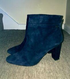 Footglove Navy Suede Boots 8