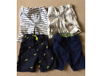 4 pairs of used boys shorts aged 4-5