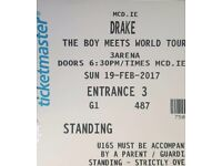 2 Drake Standing Tickets, Dublin 19th