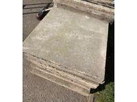 17 x Council paving slabs