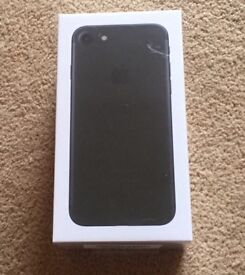 Black iPhone 7 sealed in box, unwanted upgrade EE 32GB