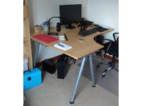 Birch Ikea Corner Desk
