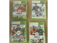 Fifa 11, 12, 13 & 14 Xbox 360 Games